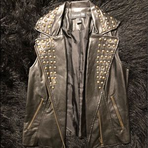Studded Leather Vest
